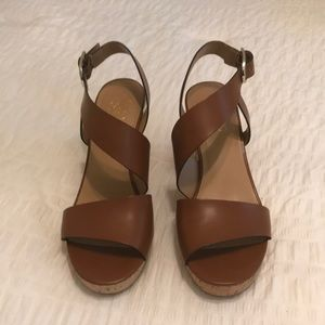 Franco Sarto Marabel wedge sandal brown